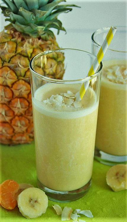 Banana Coconut Pineapple Smoothie
