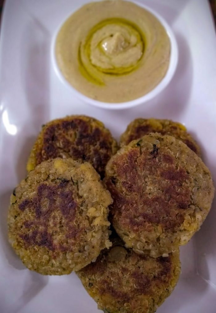 Quinoa Falafel with Light Hummus