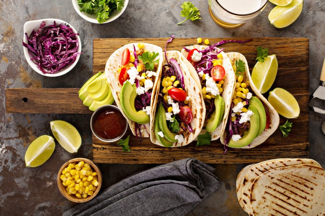 Authentic Mexican Vegetarian Tacos